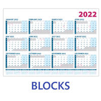 Promotional A3 Wall Planners with blocks layout from Total Merchandise