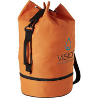 Promotional Orange Duffle Bag with Shoe Pocket Printed with Your Logo from Total Merchandise