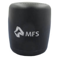 Custom branded Smart Aluminium Bluetooth Speakers in black from Total Merchandise