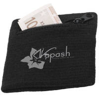 Promotional Sweatbands with Zip with a transfer printed logo from Total Merchandise