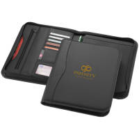 A4 Zipped Portfolios in Black