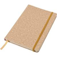 Promotional A5 Cork Print Notebooks available in brown from Total Merchandise