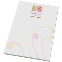 Custom printed A5 Note Pad with a company logo and design branded all over from Total Merchandise