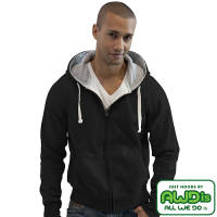 Promotional AWD Chunky Zipped Hoodies in Jet Black from Total Merchandise
