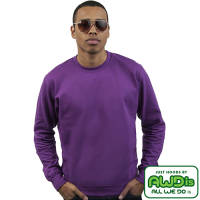 Promotional AWD Crew Neck Sweatshirts in Plum from Total Merchandise