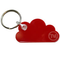 Acrylic Cloud Shape Keyrings in Red