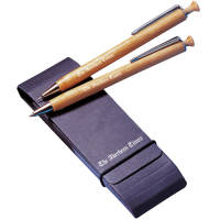 Promotional Albero Pen and Pencil Set in Natural Wood Printed with a Logo by Total Merchandise