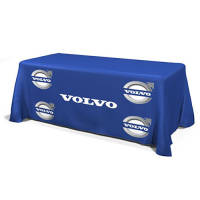 Custom All Over Print Table Cloth Throws branded with a company logo from Total Merchandise