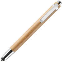 Bamboo Touch Screen Ballpens in Natural