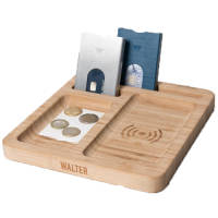 Bamboo Wireless Charging Desk Tidies