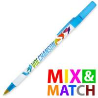 Custom Printed BiC Round Stic Ballpen in Mix & Match Colours from Total Merchandise