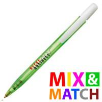 Custom Printed BiC Media Clic Ballpens in Green from Total Merchandise