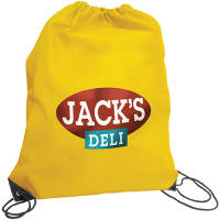 Promotional Budget Nylon Drawstring Bags in Yellow from Total Merchandise