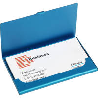 Business Card Holder in Light Blue