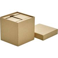 Promotional Cardboard Desk Sets are cardboard cubes with lids that feature your branding