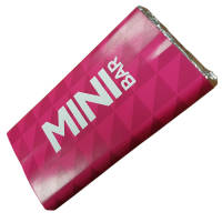 Promotional Mini Chocolate Bars 25g with Branded Wrappers from Total Merchandise