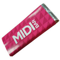 Custom Printed Midi Chocolate Bars 50g with Branded Wrappers from Total Merchandise