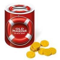 Each of our promotional Chocolate Money Tins contain 30 chocolate coins.