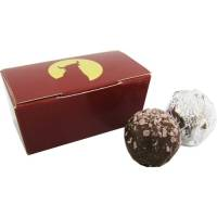 Promotional Chocolate Truffle Duo Boxes for Company Merchandise
