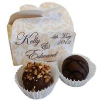 Promotional Chocolate Truffle Duo Butterfly Boxes for Business gifts
