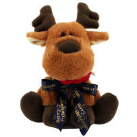 These reindeer shaped promotional teddy bears are sure to be popular with your customers this Christmas!
