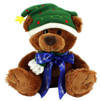 This gorgeous promotional teddy bear is ideal for spreading your company's message this Christmas!