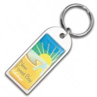 Promotional Chrome Arch Emblem Keyrings for Company Merchandise
