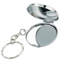Our promotional compact mirror keyrings offer functionality for your customers and awareness for your brand!