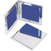 Branded Classic Mini Double Photo Frames with Engraved Design from Total Merchandise
