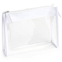 Promotional Clear PVC Toiletry Bags in Clear/White from Total Merchandise