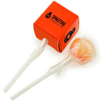 Promotional Cube Boxed Lollipops for Childrens Event Merchandise