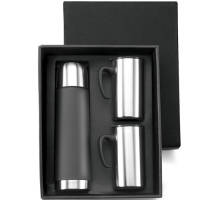 Promotional Stainless Steel Flask Sets supplied in a black gift box