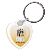 Promotional Any Shape Domed Acrylic Keyrings with Printed Design from Total Merchandise