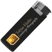 Promotional Electronic BiC Lighter in Black from Total Merchandise