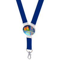 Oval Snap Lanyards in Blue