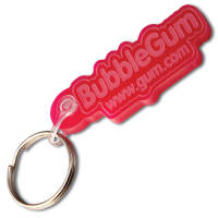 Promotional Embossed Acrylic Keyrings for giveaways