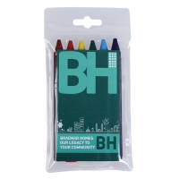 Printed Express Crayon 6 Packs for childrens giveaways