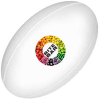 Express Full Colour Stress Rugby Balls in White