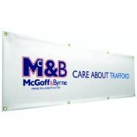 PVC Banners in White