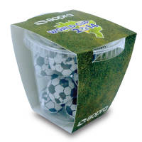 Promotional Foiled Chocolate Football Tubs for Company Gifts
