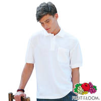 Fruit of the Loom Pocket Polo Shirts in White Printed with Your Logo from Total Merchandise