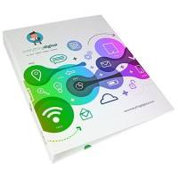 Full Colour A5 Ringbinders in White