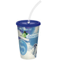 Brite Full Colour Stadium Cups in Blue