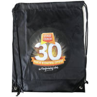 Our full colour drawstring backpacks will look great printed with your logo!