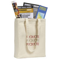 Groombridge Natural 10oz Cotton Tote Bag with a printed logo on 1 side from Total Merchandise