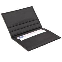 Promotional Hampton Card Holders in Black with Printed Logo by Total Merchandise