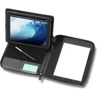 Custom Branded Houghton A5 PU Tablet Portfolios in Black from Total Merchandise