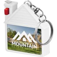 House Shaped Tape Measure Keyrings in White