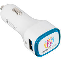 Promotional Illuminated Quick Charge USB Car Chargers with logos