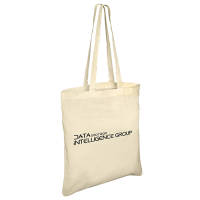 Branded Long Handle Portobello Cotton Bag in Natural Cotton Printed with a Logo by Total Merchandise